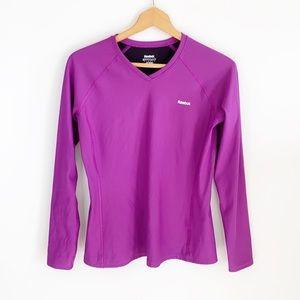 Reebok Play Dry Pink Long Sleeve Athletic Top